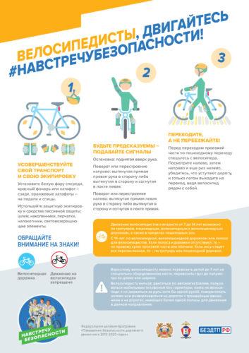 Памятка Велосипедисты-двигайтесь-навстречу-безопасности